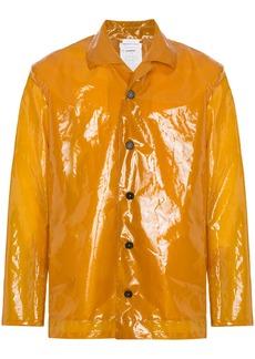Jil Sander plastic raincoat - Yellow & Orange