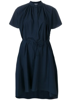 Jil Sander pleat detail shirt dress - Blue