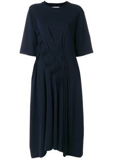 Jil Sander pleated detail dress - Blue