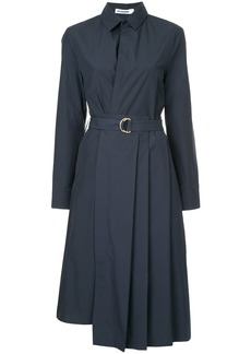 Jil Sander pleated midi shirt dress - Blue