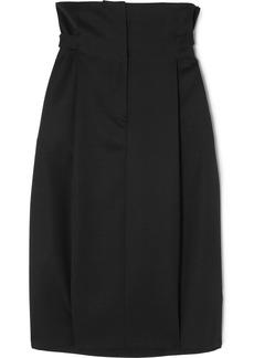 Jil Sander Pleated wool-twill skirt