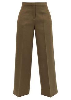 Jil Sander Pleated wool wide-leg trousers