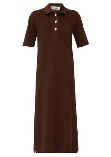 Jil Sander Point collar cotton-terry shirtdress