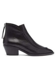 Jil Sander Pointed toe western leather ankle boots