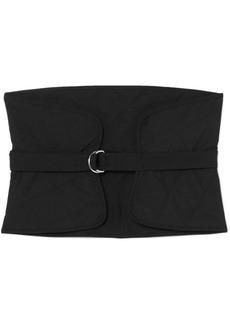 Jil Sander Quilted wool and mohair-blend waist belt