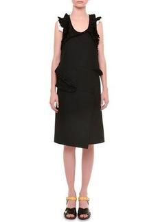 Jil Sander Radzimir Sleeveless Dress W/Ruffles