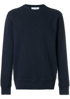 Jil Sander raw stitch crew neck sweater - Blue