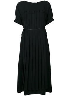Jil Sander ribbed flared dress - Black
