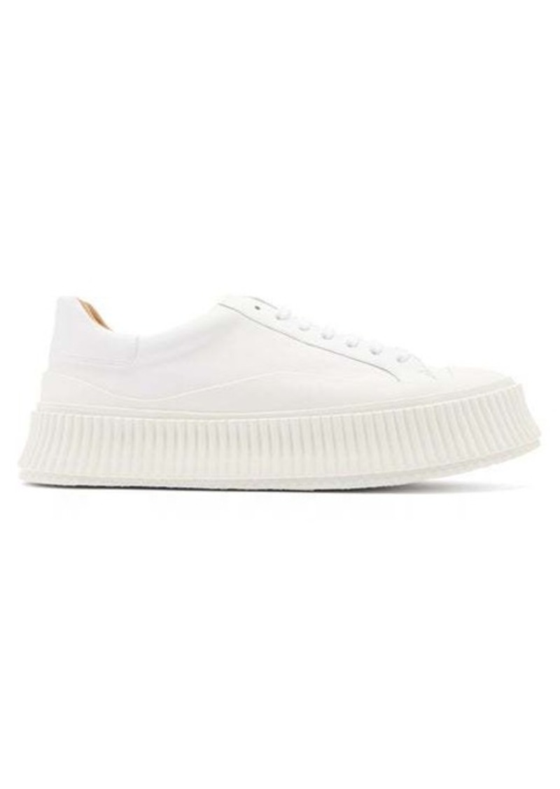Jil Sander Ribbed-sole leather trainers
