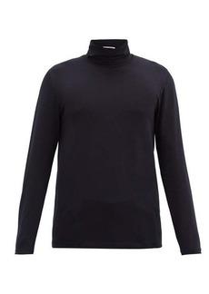 Jil Sander Roll-neck cotton-blend jersey shirt