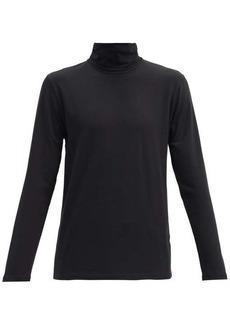 Jil Sander Roll-neck cotton-blend jersey top