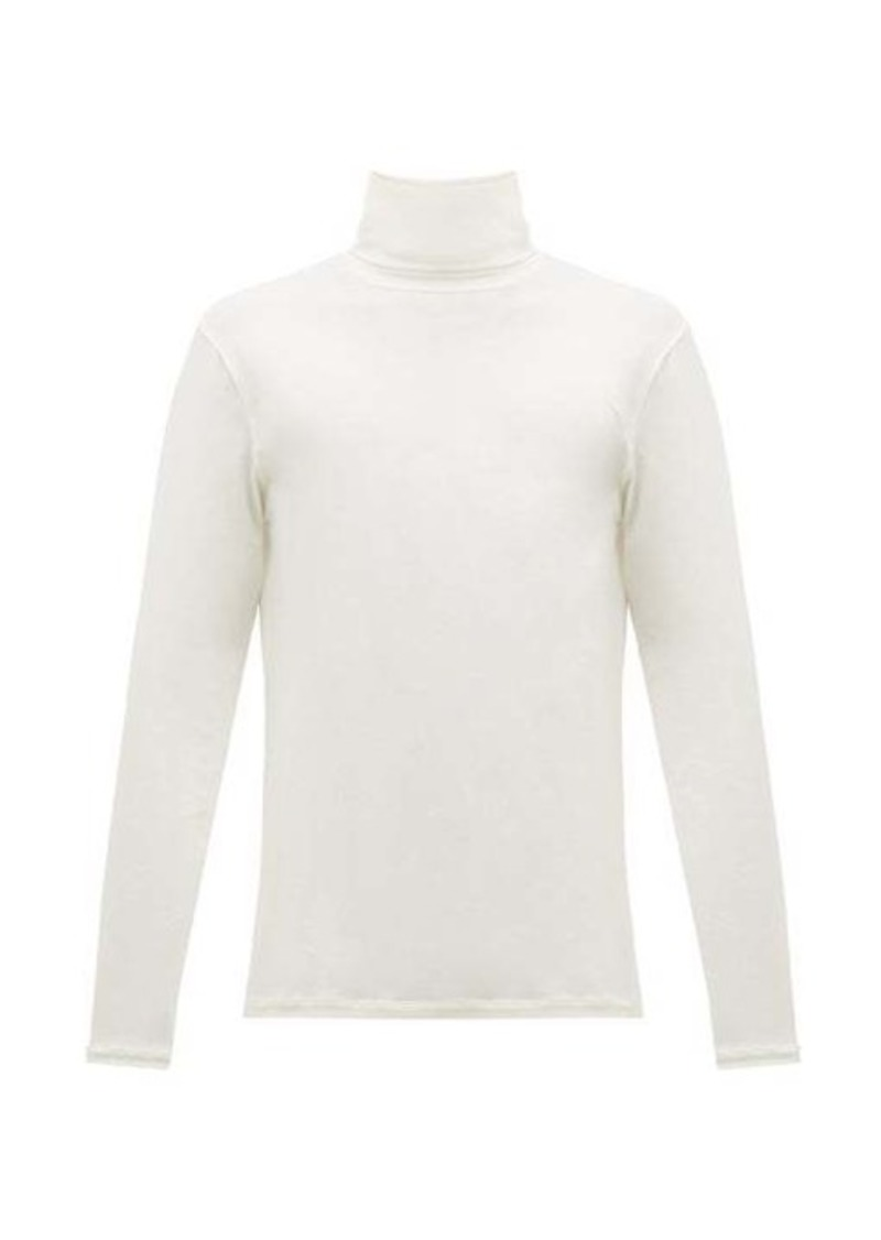 Jil Sander Roll-neck cotton-blend T-shirt