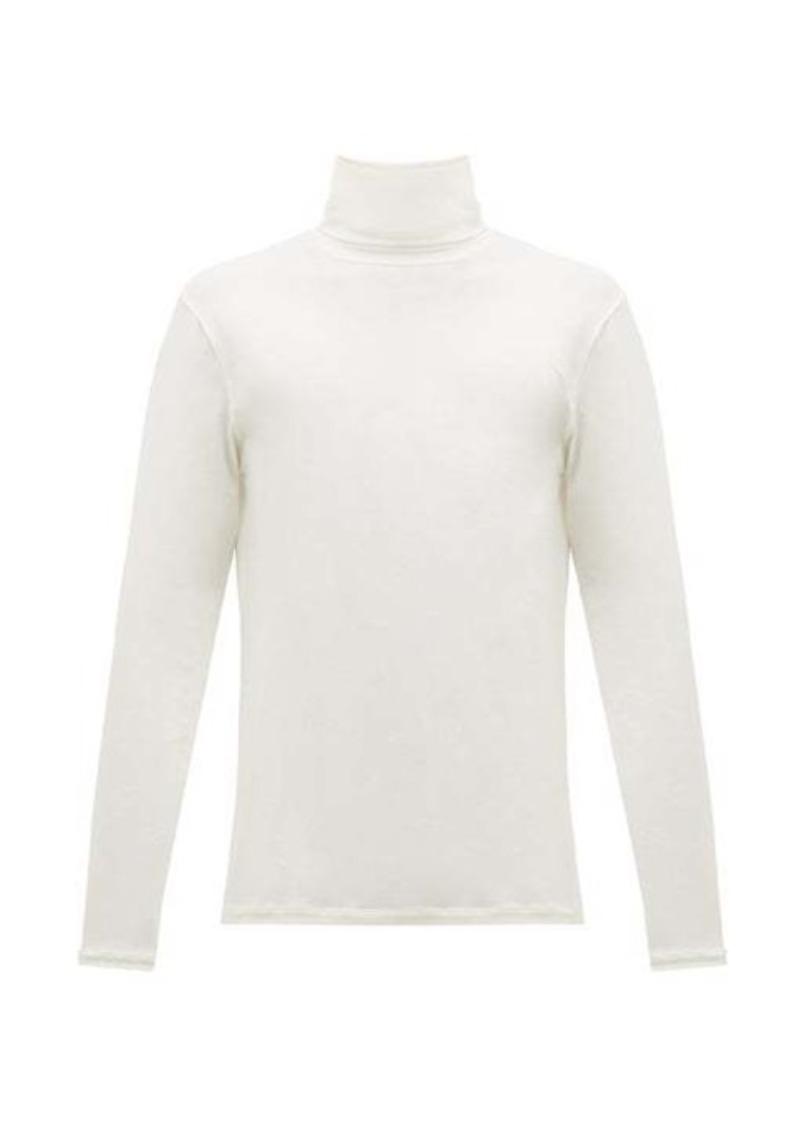 Jil Sander Roll-neck cotton-blend T-shirt