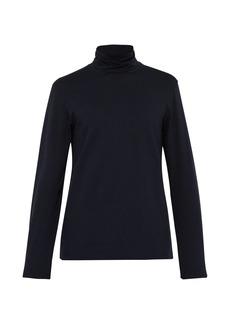 Jil Sander Roll-neck cotton-blend top