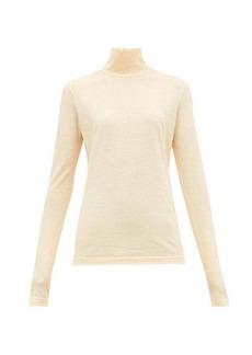 Jil Sander Roll-neck cotton-jersey top