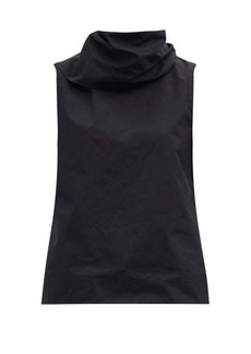 Jil Sander Roll-neck cotton-poplin top