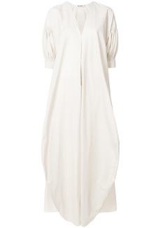 Jil Sander ruched sleeve dress - Nude & Neutrals