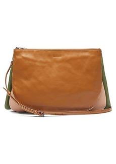 Jil Sander Colour-block leather cross-body bag