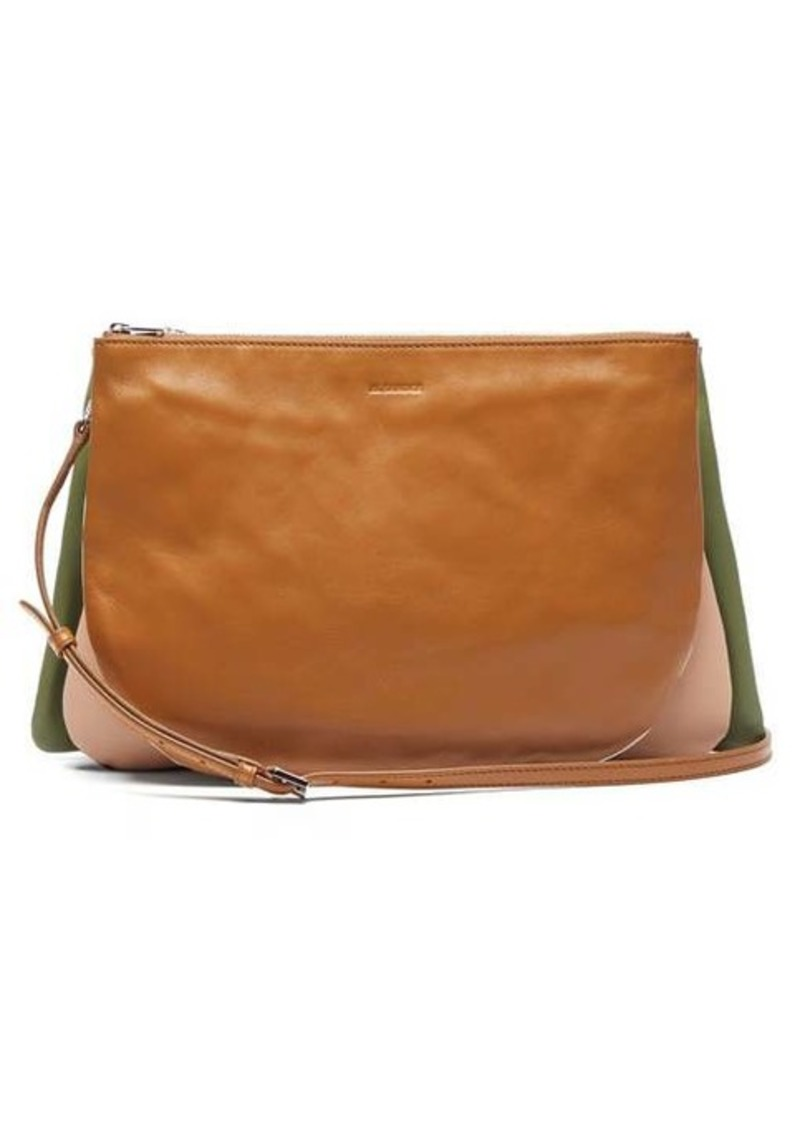 Jil Sander Colour-block leather cross-body bag