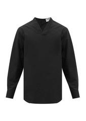 Jil Sander Saturday P.M. V-neck cotton-poplin shirt