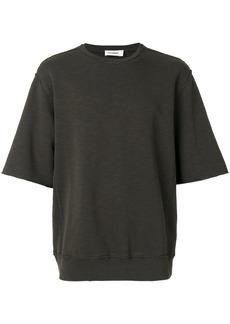 Jil Sander short sleeve raw stitch sweatshirt - Green