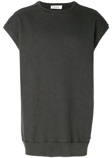Jil Sander short sleeve sweatshirt - Grey