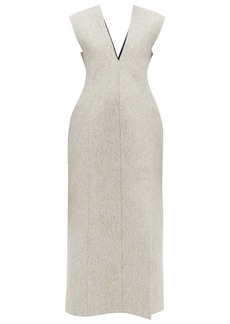 Jil Sander Side-slit wool-blend felt dress