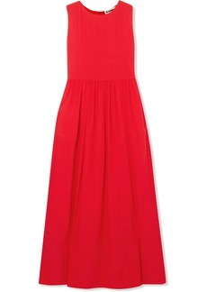 Silk-crepe maxi dress