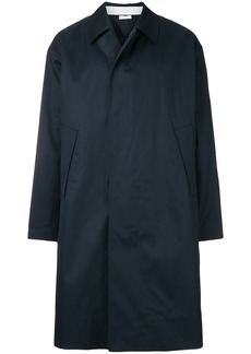 Jil Sander single breasted coat - Blue