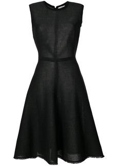 Jil Sander sleeveless flared dress - Black