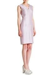 Jil Sander Sleeveless Seamed V-Neck Dress