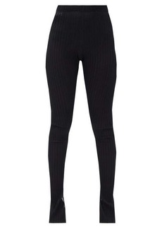 Jil Sander Slit-cuff ribbed-knit leggings