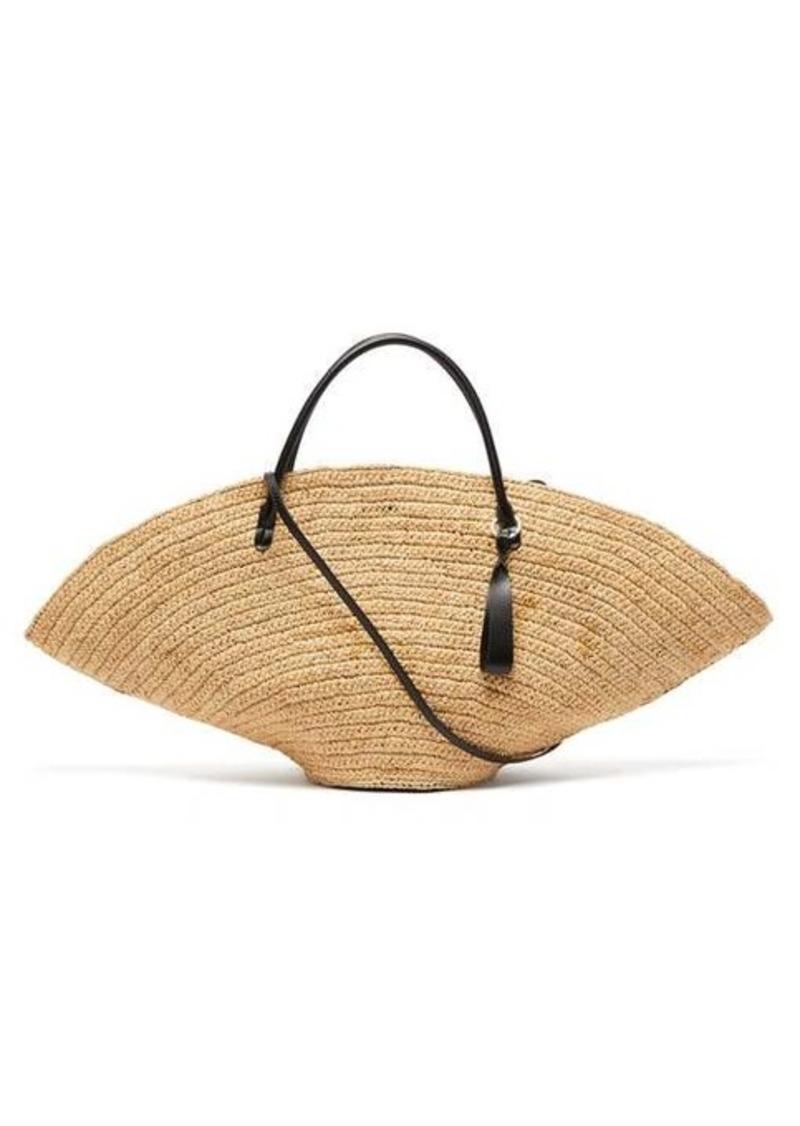 Jil Sander Sombrero large raffia tote bag