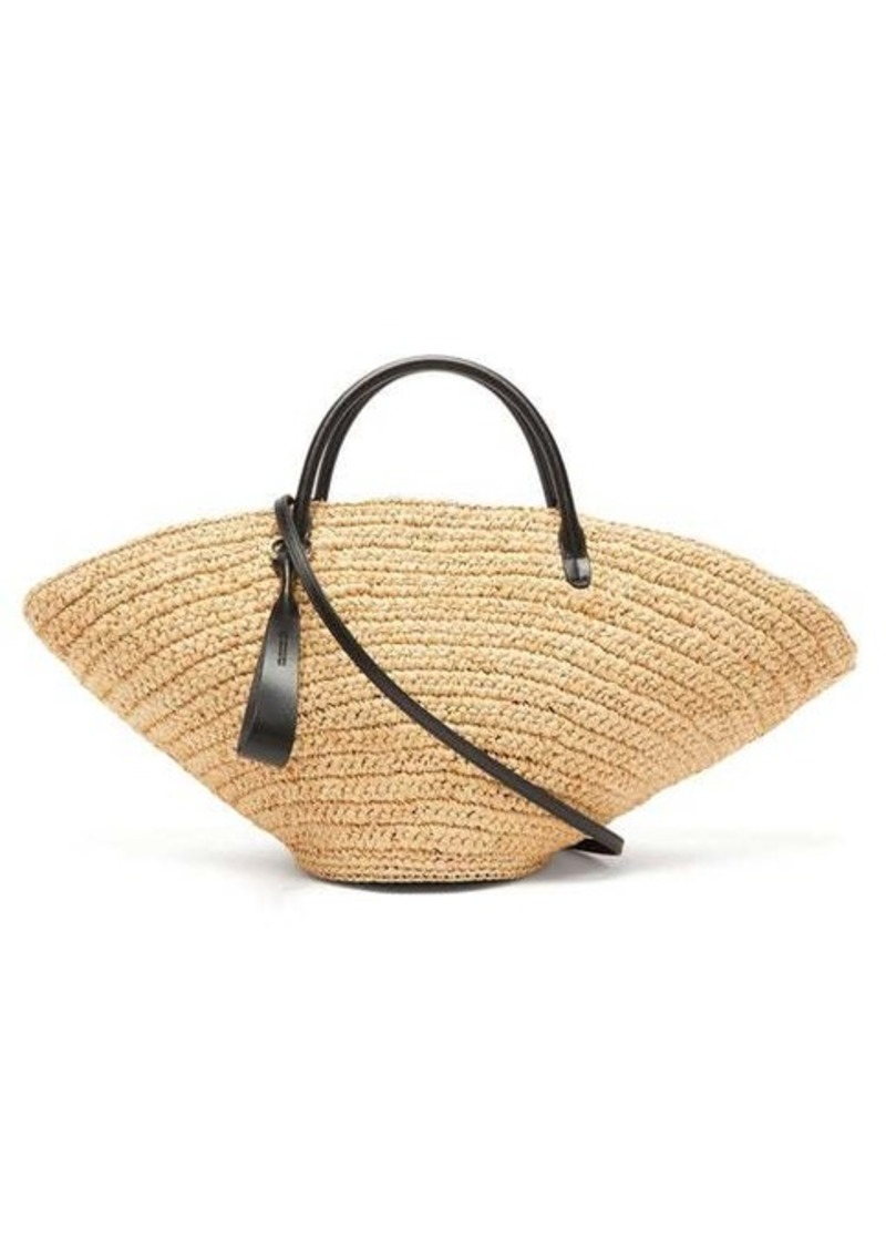 Jil Sander Sombrero medium raffia tote bag