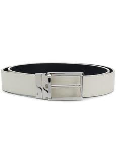 Jil Sander square buckle belt - White