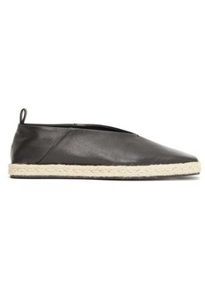 Jil Sander Square-toe leather espadrilles