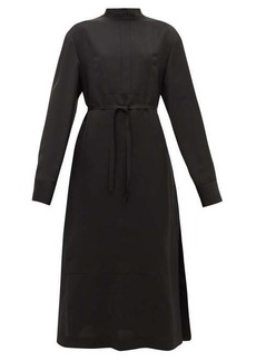 Jil Sander Stand-collar belted twill shirt dress
