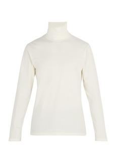 Jil Sander Stretch-cotton roll-neck top