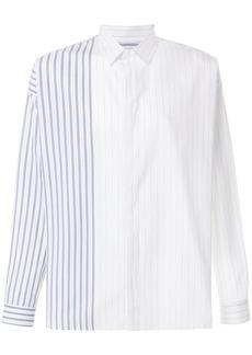 Jil Sander striped button shirt - White