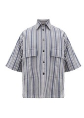 Jil Sander Striped cotton-blend canvas shirt