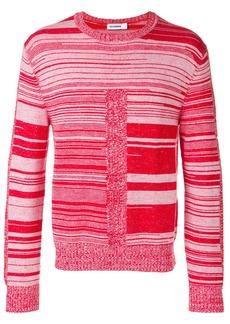 Jil Sander striped knit jumper - Red
