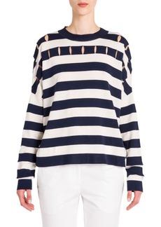 Jil Sander Striped Wool Top