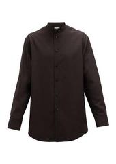 Jil Sander Sunday quilted silk-broadcloth shirt