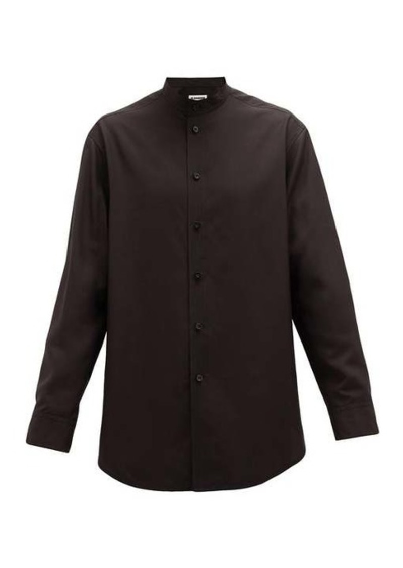 Jil Sander Sunday quilted silk-broadcloth shirt