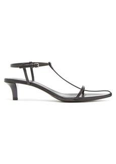 Jil Sander T-strap leather kitten-heel sandals