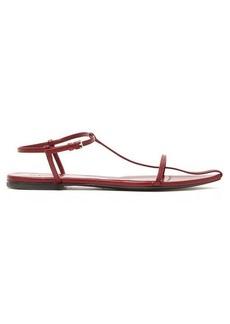 Jil Sander T-strap point-toe leather sandals