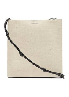 Jil Sander Tangle large canvas shoulder bag