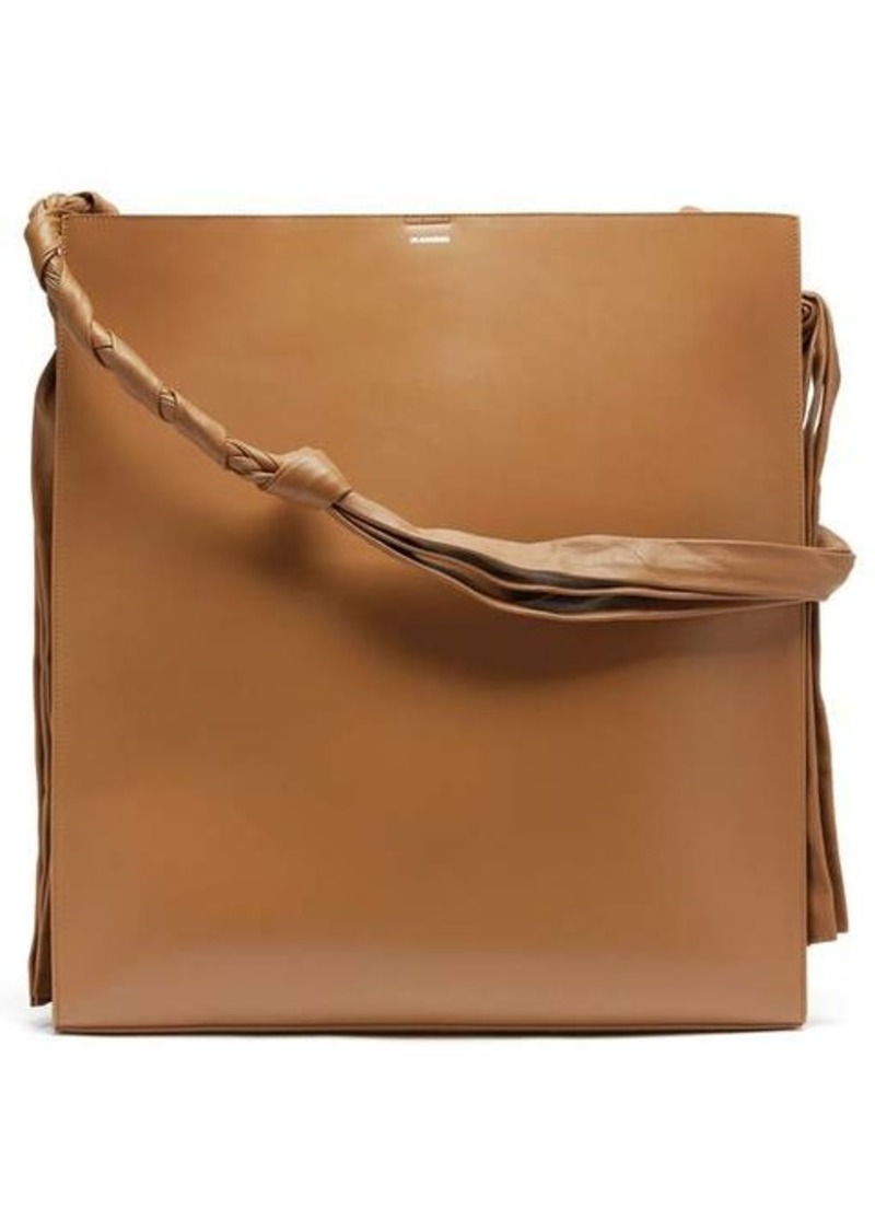 Jil Sander Tangle large leather shoulder bag