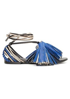 Jil Sander Tassel and braided-leather sandals