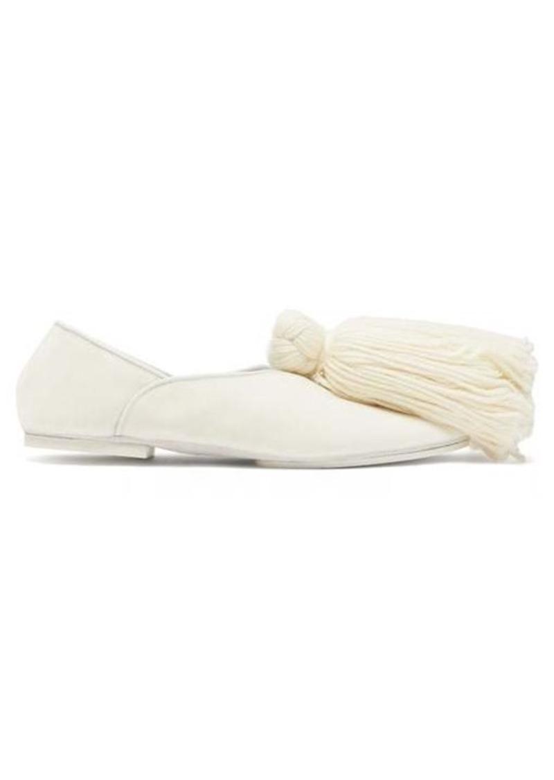 Jil Sander Tassel-trim velvet slippers